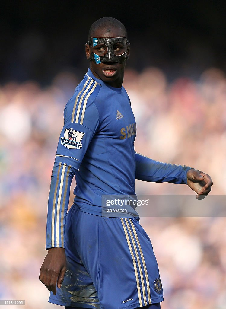 Demba Ba during the FA Cup Fourth Round Replay match between Chelsea and Brentford at Stamford Bridge on February 17, 2013 in London, England.
