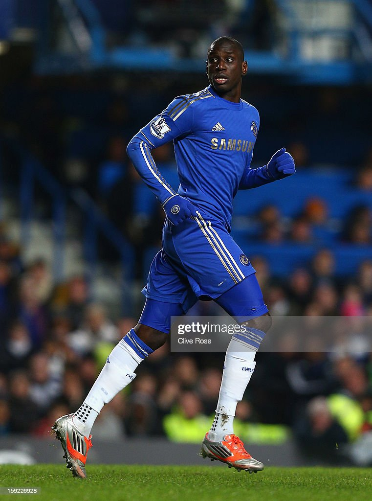 Demba Ba of Chelsea looks on during the Capital One Cup Semi-Final first leg match between Chelsea and Swansea City at Stamford Bridge on January 9, 2013 in London, England.