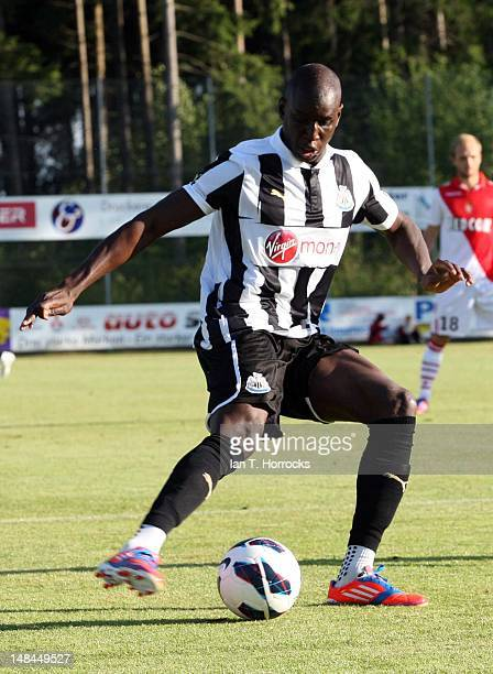 Demba Ba of Newcastle United during a pre season friendly match between Newcastle United and AS Monaco at the HackerPschorr Sports Park on July 16 in...