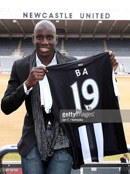 Demba Ba pictured at St James' Park after signing for Newcastle United from West Ham United on June 17 2011