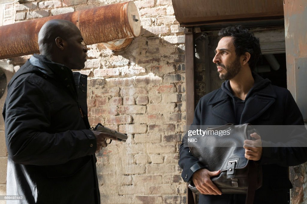 THE BLACKLIST -- 'Dembe Zuma' Episode 416 -- Pictured: (l-r) Hisham Tawfiq as Dembe Zuman, Amir Arison as Aram Mojtabai --