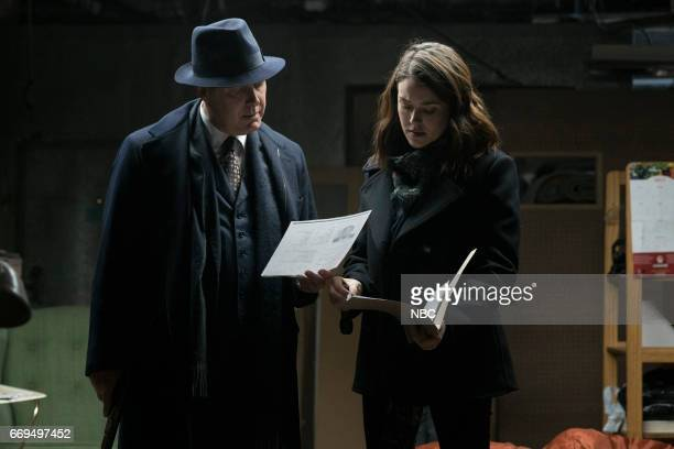 THE BLACKLIST 'Dembe Zuma' Episode 416 Pictured James Spader as Raymond 'Red' Reddington Megan Boone as Elizabeth 'Liz' Keen