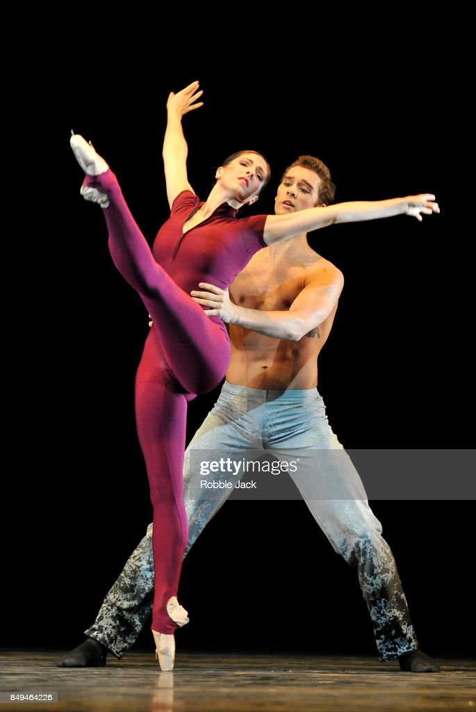 Demelza Parish and Lukas Bjorneboe Braendsrod in the Royal Ballet's production Heart's Furies at Hull New Theatre on September 15, 2017 in Hull, England.