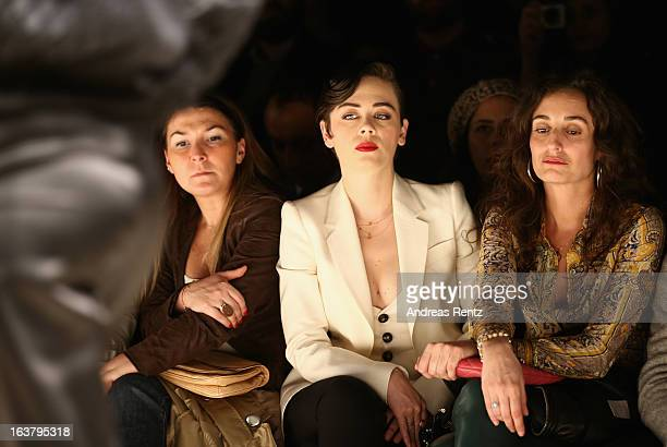 Demet Evgar attends the runway at the Soul By Ozgur Masur show during MercedesBenz Fashion Week Istanbul Fall/Winter 2013/14 at Antrepo 3 on March 15...