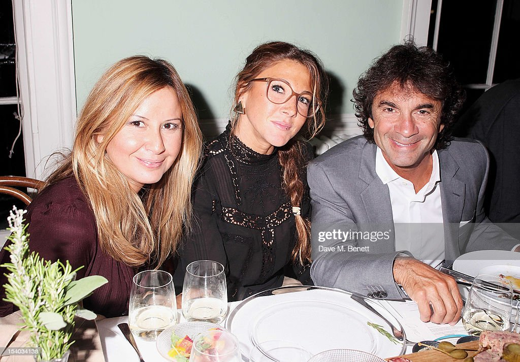 Demet Muftuoglu, Ronit Gulcan and Cem Hakko attend the Instanbul'74 dinner celebrating artist Sandro Kopp's 'Mediated Presence' exhibtion at 6 Fitzroy Square on October 12, 2012 in London, England.