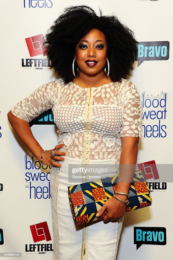 Demetria Lucas attends the season premiere of 'Blood, Sweat and Heels' at Kristalbelli on December 10, 2013 in New York City.