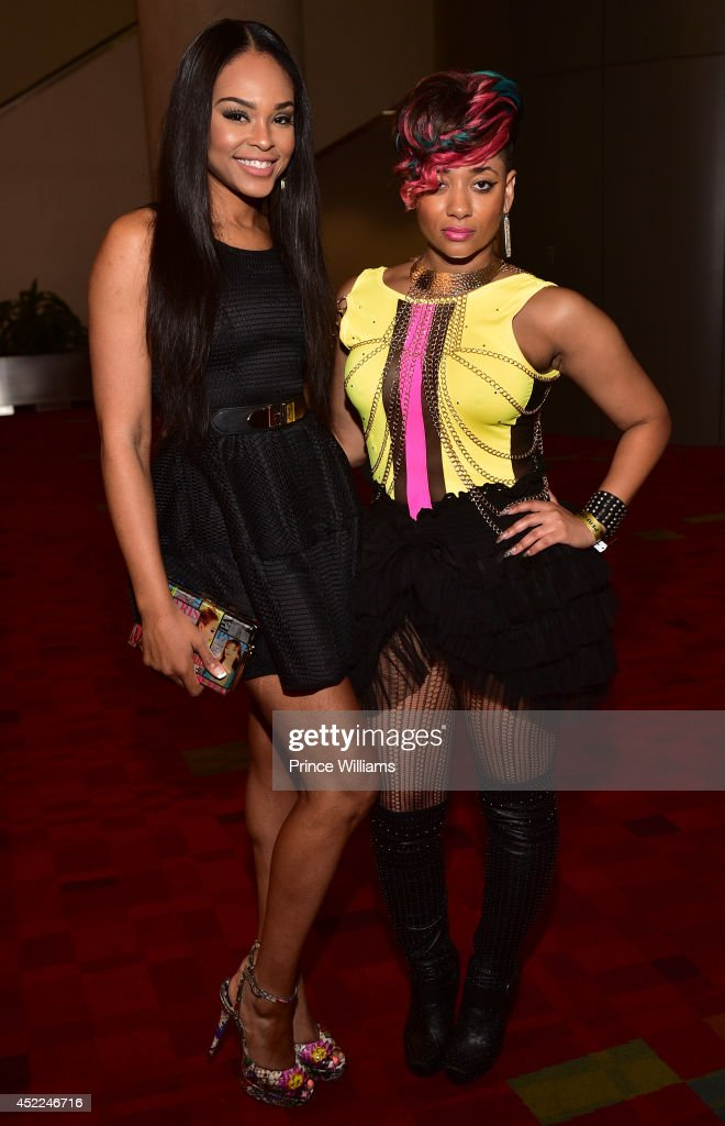 <a gi-track='captionPersonalityLinkClicked' href=/galleries/search?phrase=Demetria+McKinney&family=editorial&specificpeople=5483441 ng-click='$event.stopPropagation()'>Demetria McKinney</a> and Kris Kelli attend the 2014 V-103/WAOK Car & Bike Show at Georgia World Congress Center on July 12, 2014 in Atlanta, Georgia.