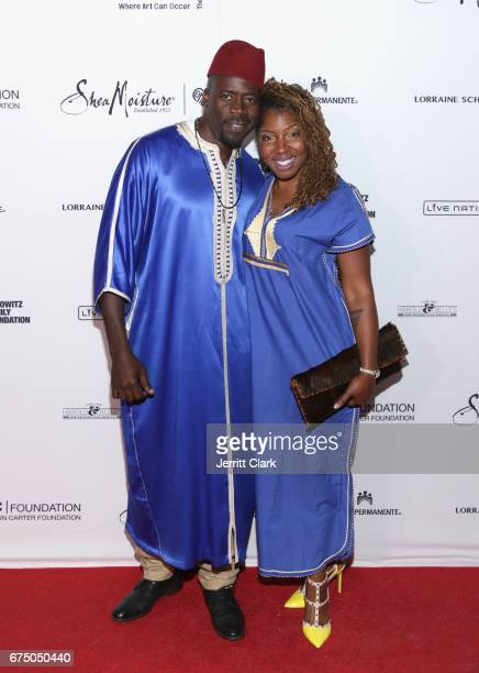 Demetrius Grosse attends the Wearable Art Gala Arrivals at California African American Museum on April 29 2017 in Los Angeles California
