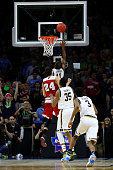 Demetrius Jackson of the Notre Dame Fighting Irish makes a layup late in the second half against the Wisconsin Badgers during the 2016 NCAA Men's...