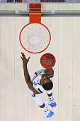 Demetrius Jackson of the Notre Dame Fighting Irish shoots the ball in the first half against the Wisconsin Badgers during the 2016 NCAA Men's...
