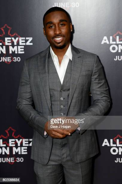 Demetrius Shipp Jr attends the 'All Eyez On Me' UK Film Premiere on June 27 2017 in London England