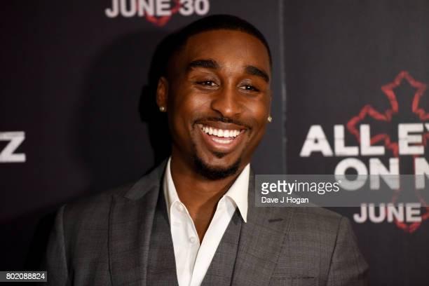Demetrius Shipp Jr attends the 'All Eyez On Me' UK Film Premiere on June 27 2017 in London England