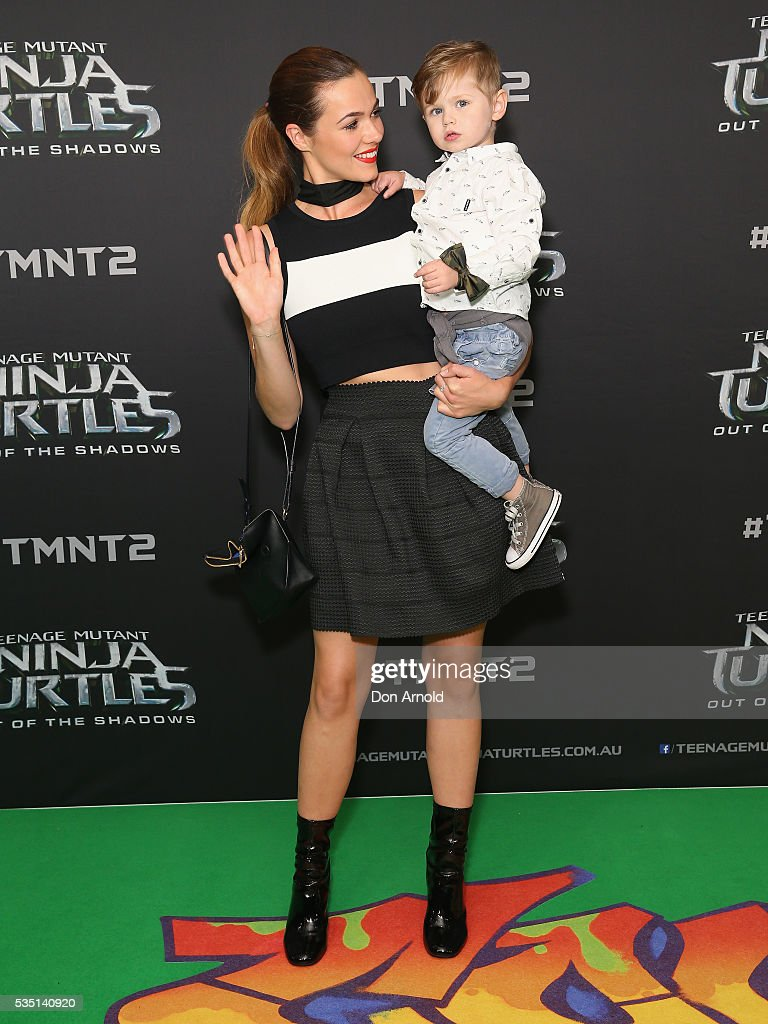Demi Harman and guest attend the Australian Premiere of Teenage Mutant Ninja Turtles 2 at Event Cinemas George Street on May 29, 2016 in Sydney, Australia.