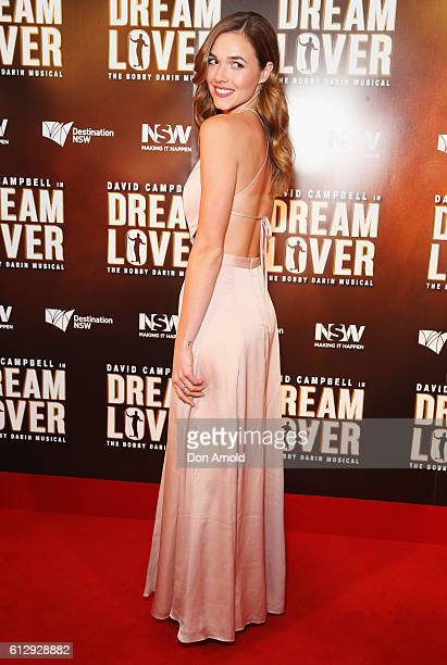 Demi Harman arrives ahead of the premiere of Dream Lover The Bobby Darin Musical at Lyric Theatre Star City on October 6 2016 in Sydney Australia