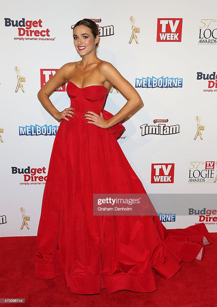 Demi Harman arrives at the 57th Annual Logie Awards at Crown Palladium on May 3, 2015 in Melbourne, Australia.