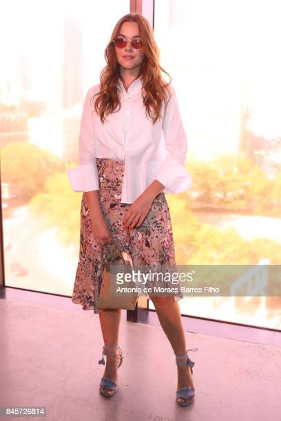 Demi Harman attends Zimmermann show during New York Fashion Week at Spring Studios on September 11 2017 in New York City