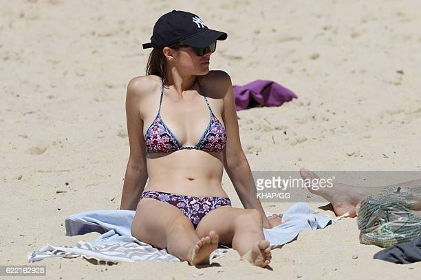 Demi Harman pictured enjoying a beach outing on October 15 2016 in Sydney Australia