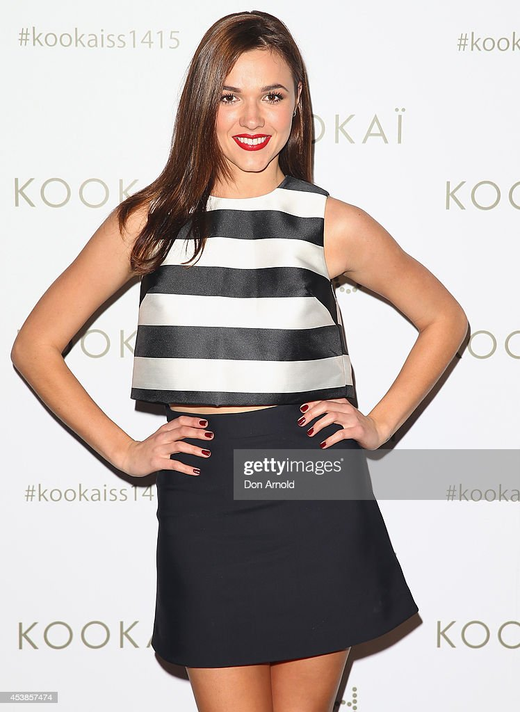 Demi Harman poses at Kookai Fashion Show SS14/15 at Carriageworks on August 20, 2014 in Sydney, Australia.