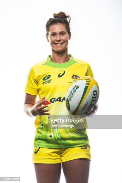 Demi Hayes poses during an Australia Women's Sevens headshots session on January 25 2017 in Sydney Australia