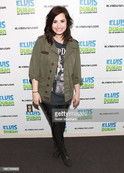 Demi Levato visits at Z100 Studio on April 10 2013 in New York City