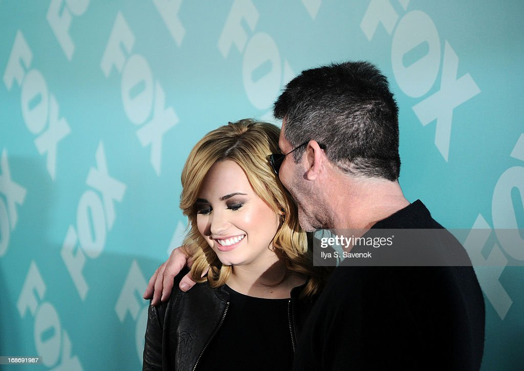 Demi Lovato and Simon Cowell attend FOX 2103 Programming Presentation Post-Party at Wollman Rink - Central Park on May 13, 2013 in New York City.