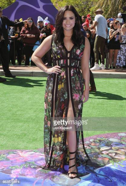 Demi Lovato arrives at the Los Angeles Premiere 'Smurfs The Lost Village' at ArcLight Cinemas on April 1 2017 in Culver City California