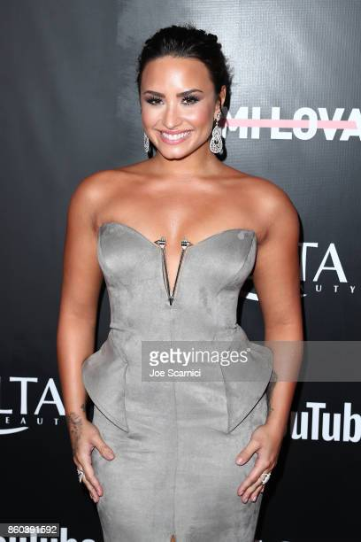 Demi Lovato arrives at the Premiere Of YouTube's 'Demi Lovato Simply Complicated' on October 11 2017 in Los Angeles California