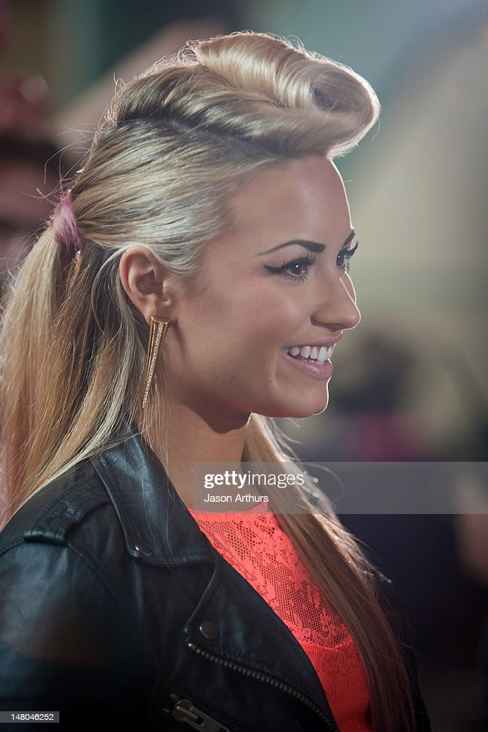 <a gi-track='captionPersonalityLinkClicked' href=/galleries/search?phrase=Demi+Lovato&family=editorial&specificpeople=4897002 ng-click='$event.stopPropagation()'>Demi Lovato</a> arrives at 'The X Factor' Season 2 auditions at the Greensboro Coliseum on July 8, 2012 in Greensboro, North Carolina.