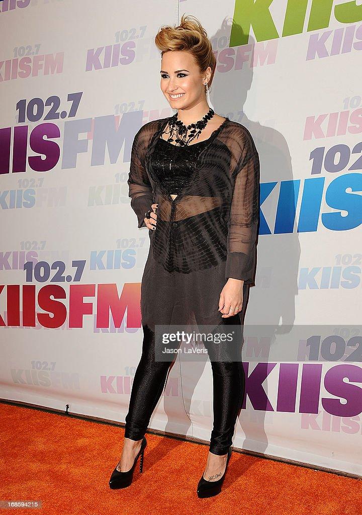 Demi Lovato attends 102.7 KIIS FM's Wango Tango at The Home Depot Center on May 11, 2013 in Carson, California.