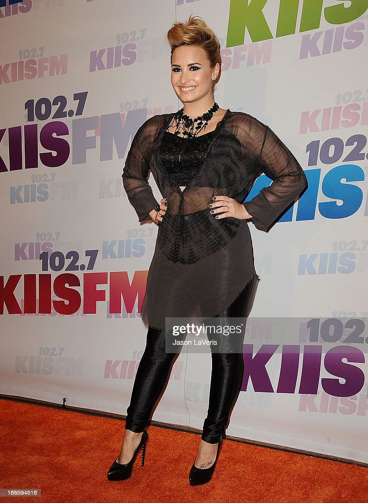 Demi Lovato attends 102.7 KIIS FM's Wango Tango at The Home Depot Center on May 11, 2013 in Carson, California.