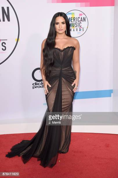 Demi Lovato attends 2017 American Music Awards at Microsoft Theater on November 19 2017 in Los Angeles California