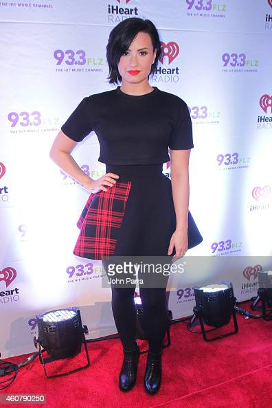Demi Lovato attends 933 FLZ's Jingle Ball 2014 at Amalie Arena on December 22 2014 in Tampa Florida