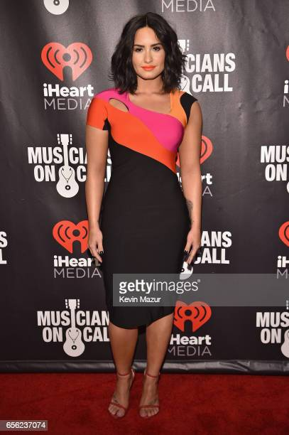 Demi Lovato attends A Night To Celebrate Elvis Duran presented by Musicians On Call at The Edison Ballroom on March 21 2017 in New York City