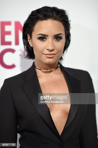 Demi Lovato attends Billboard's 10th Annual Women In Music at Cipriani 42nd Street on December 11 2015 in New York City