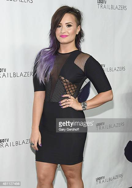 Demi Lovato attends Logo TV's 'Trailblazers' at the Cathedral of St John the Divine on June 23 2014 in New York City