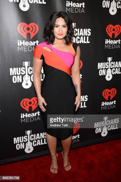 Demi Lovato attends Musicians On Call presents A Night To Celebrate Elvis Duran at The Edison Ballroom on March 21 2017 in New York City