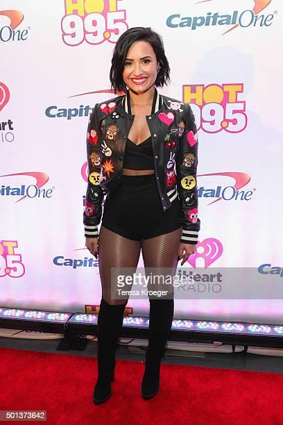 Demi Lovato attends the 2015 iHeartRadio Jingle Ball at Verizon Center on December 14 2015 in Washington DC