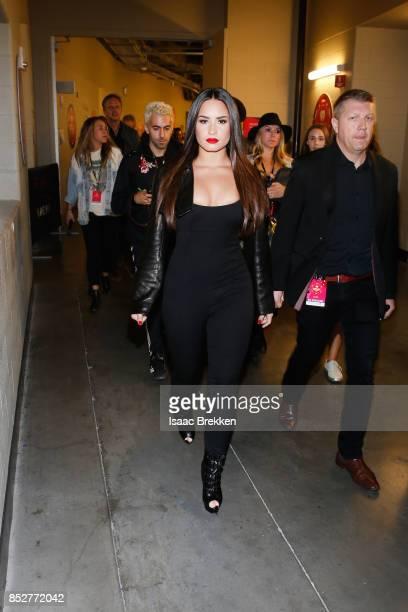 Demi Lovato attends the 2017 iHeartRadio Music Festival at TMobile Arena on September 23 2017 in Las Vegas Nevada