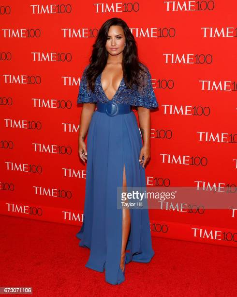 Demi Lovato attends the 2017 Time 100 Gala at Jazz at Lincoln Center on April 25 2017 in New York City