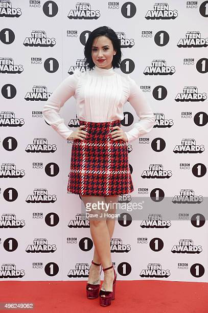 Demi Lovato attends the BBC Radio 1 Teen Awards at Wembley Arena on November 8 2015 in London England