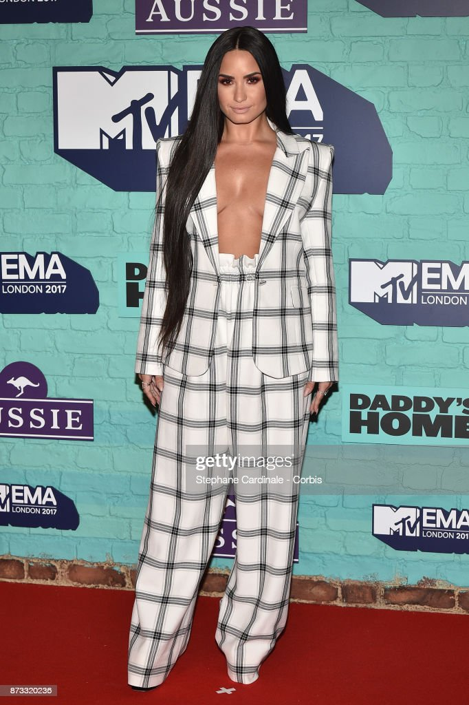 Demi Lovato attends the MTV EMAs 2017 at The SSE Arena, Wembley on November 12, 2017 in London, England.