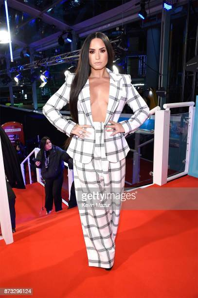 Demi Lovato attends the MTV EMAs 2017 held at The SSE Arena Wembley on November 12 2017 in London England