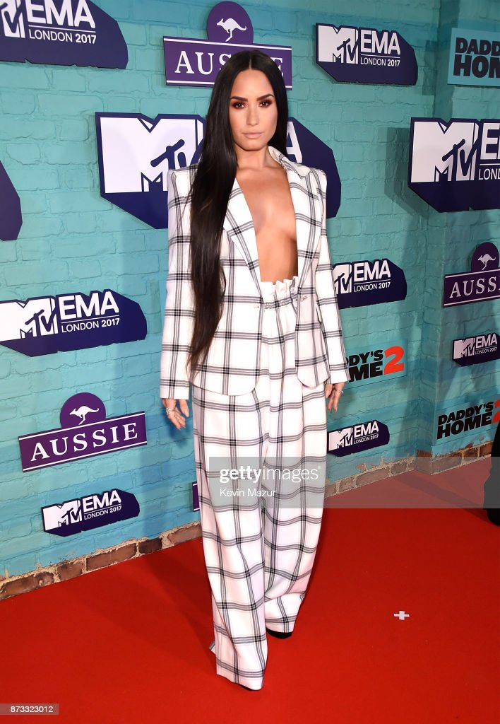 Demi Lovato attends the MTV EMAs 2017 held at The SSE Arena, Wembley on November 12, 2017 in London, England.
