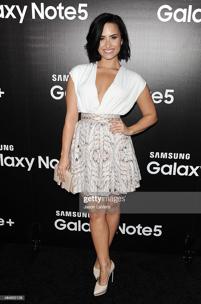 Demi Lovato attends the Samsung launch party on August 18 2015 in West Hollywood California