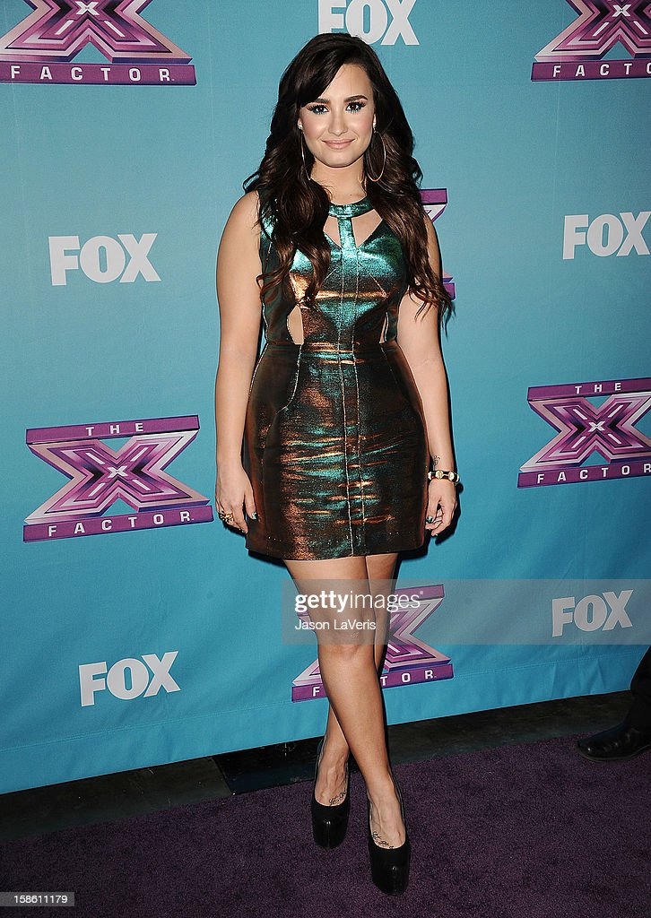 Demi Lovato attends the season finale of Fox's 'The X Factor' at CBS Television City on December 20, 2012 in Los Angeles, California.