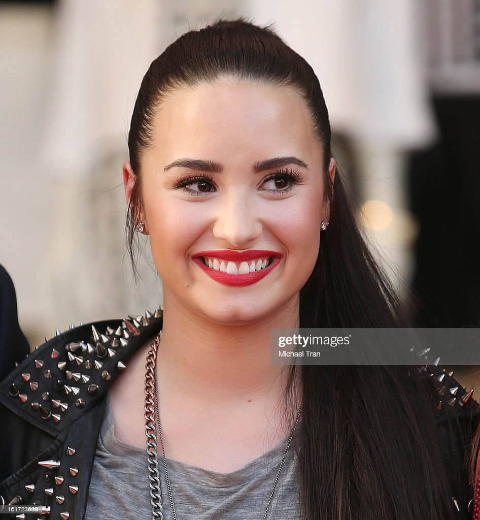 <a gi-track='captionPersonalityLinkClicked' href=/galleries/search?phrase=Demi+Lovato&family=editorial&specificpeople=4897002 ng-click='$event.stopPropagation()'>Demi Lovato</a> attends Topshop Topman LA Grand Opening at The Grove on February 14, 2013 in Los Angeles, California.