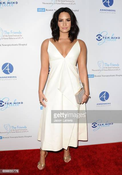 Demi Lovato attends UCLA's Semel Institute's biannual 'Open Mind Gala' at The Beverly Hilton Hotel on March 22 2017 in Beverly Hills California