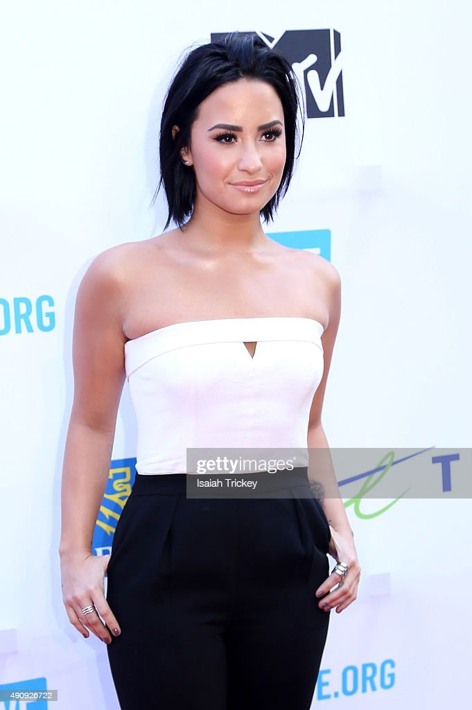 Demi Lovato attends WE Day Toronto at the Air Canada Centre on October 1, 2015 in Toronto, Canada.
