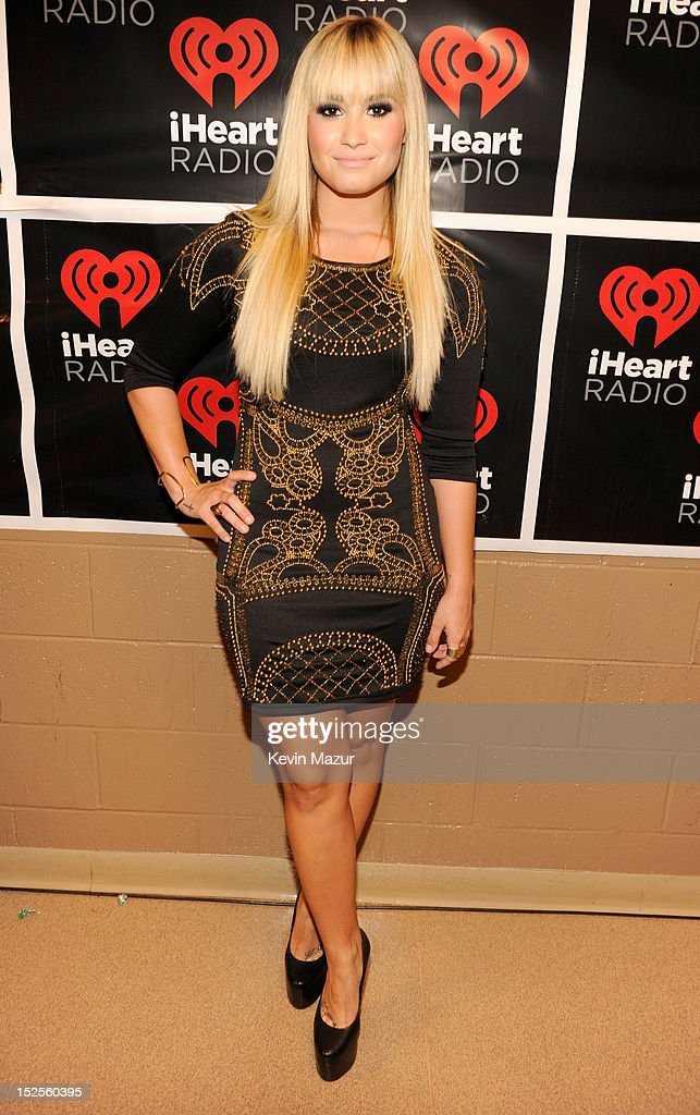 <a gi-track='captionPersonalityLinkClicked' href=/galleries/search?phrase=Demi+Lovato&family=editorial&specificpeople=4897002 ng-click='$event.stopPropagation()'>Demi Lovato</a> backstage during the 2012 iHeartRadio Music Festival at MGM Grand Garden Arena on September 21, 2012 in Las Vegas, Nevada.