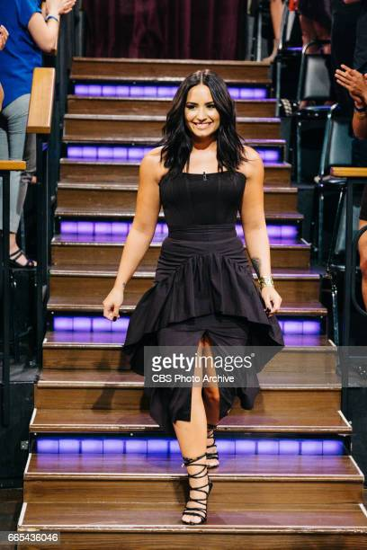 Demi Lovato greets the audience during 'The Late Late Show with James Corden' Wednesday April 5 2017 On The CBS Television Network